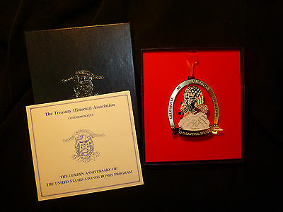 U.S. Treasury  Department  1991 Savings Bonds Division Christmas Ornament
