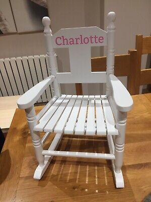 Childrens Wooden Rocking Chair, Available In 3 Colours!