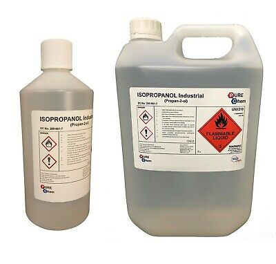 ISOPROPANOL 99.9% 250ml- 1L - 5L IPA Makes Rubbing Alcohol