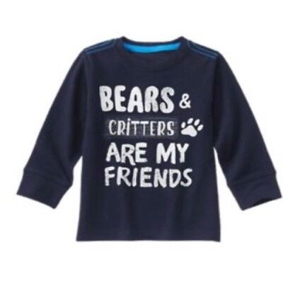 Gymboree Grizzly Ridge 3T 4T 5T Top Bears Critters Friends Shirt Navy