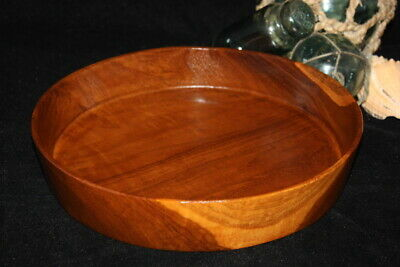 "Teak Root Plate/Tray 10"" - Wooden solid bowl made from one single piece"