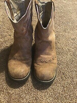 cc6b46487e0 SHEPLERS OLD WEST Women's Cowboy Boot SCL 7017 Size 8.5 - $25.00 ...