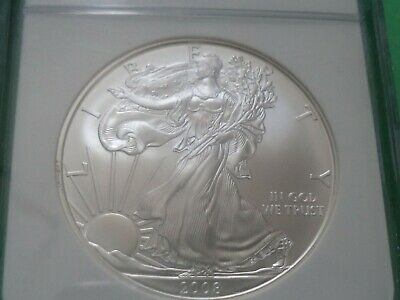 2008 Ngc Ms70 American Silver Eagle 1 Dollar 1 Oz.999  Silver  (Brown Label)