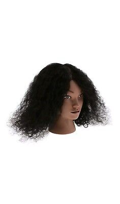 Cosmetology Hairdressing Practice Mannequin Head Model with Human Hair