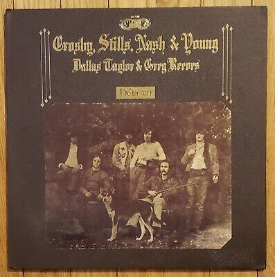 Crosby Stills Nash & Young - Deja Vu 1970 SD 7200 Textured LP Vinyl Presswell EX