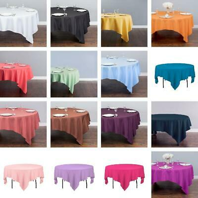 LinenTablecloth 85 in. Square Polyester Tablecloth - 33 Colors