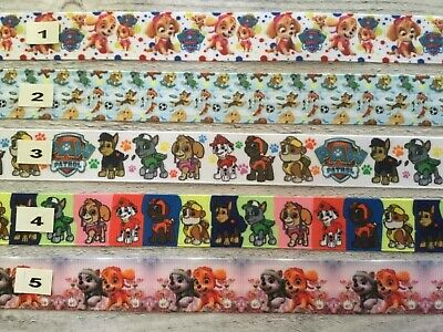 Paw Patrol Ribbon & Foe all designs sold by 2M -Craft - Hair- Make Dummy clips