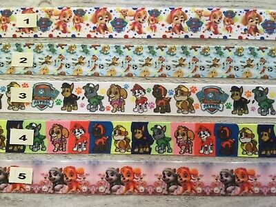Paw Patrol Ribbon all designs sold by 2M -Craft - Hair- Make Dummy clips