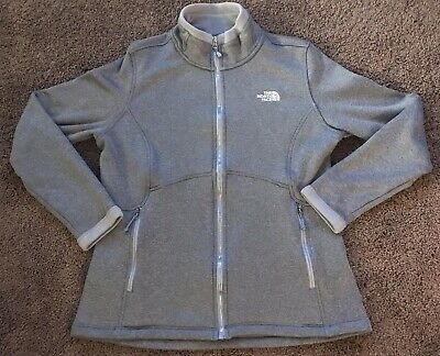 b8a3b4eca THE NORTH FACE Gray Agave Fleece Jacket Women's Coat Plush Size XS ...