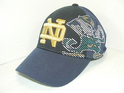 02ac59e4527 Top of the World NOTRE DAME Fighting Irish Stretch Fit Baseball Hat Cap  OneFit