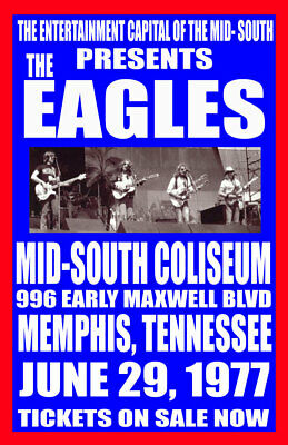 Eagles Replica *mid-South Coliseum* 1977 Concert Poster