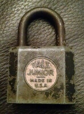 Vintage Antique Yale & Towne Yale Junior Rustic Padlock No Key Made In Usa