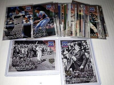 2019 Topps Series 1 150 Years Greatest Moments Players Seasons UPick List Lot
