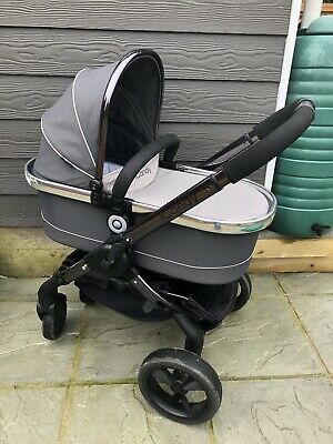 Icandy Peach 3 Pramette Truffle Pushchair With Cot & Seat Smoked Black Vinyled