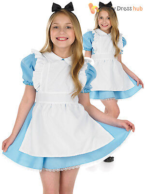 Girls Alice Costume World Book Week Day Wonderland Character Fancy Dress Outfit