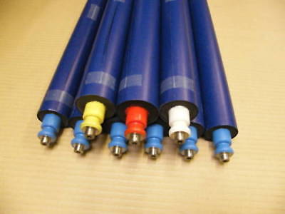 Gto46 Inking Roller Set - 6 Blue 1 Red White Yellow - Ready To Run