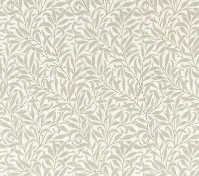 "PURE WILLIAM MORRIS CURTAIN FABRIC DESIGN ""Pure Willowbough's"" 1.2 METRES GILVER"