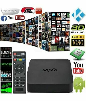 MXQ 4K 1080P Smart TV BOX XBMC Kodi H.265 Android Quad Core WiFi 1gb 8GB mini tv