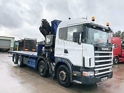 2002 Scania 124 420 8X2 Rear Lift, Fitted With 2006 Pm 50025P Crane