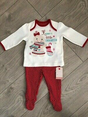 Baby Girls George Mummy's Little Sweetie Pyjama Set Age 3-6 Months Bnwt