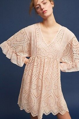 847d05ef0684 ANTHROPOLOGIE AKEMI + KIN Brooke Eyelet Swing Dress Size 2 - $25.20 ...