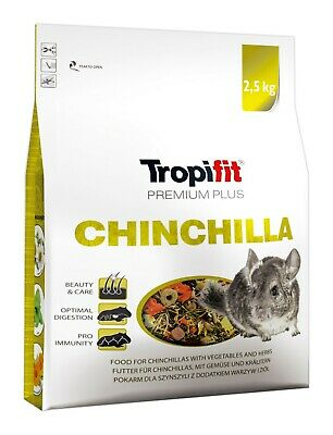 PREMIUM PLUS COMPLETE CHINCHILLA FOOD with Vegetables & Herbs, Alfalfa 2,5kg Bag