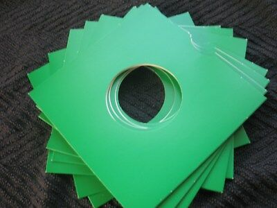 50 Green Card 7 Inch Record Sleeves U.k. Made.free Ukpostage !!! Mix And Match.