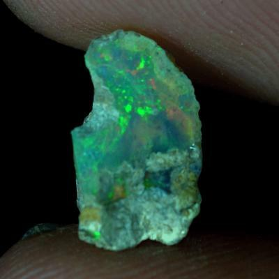 02.20Ct Amazing Rainbow Fire Power Ethiopian Opal Rough 100% Natural Gemstones