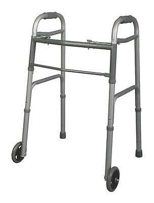 """Junior Youth Two-Button Folding Walkers with 5"""" Wheels *BEST DEAL*"""