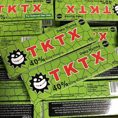 Lotto 5 x New Crema RED Anestetica Tattoo TKTX 38% Super Fast Deep Numbing Cream