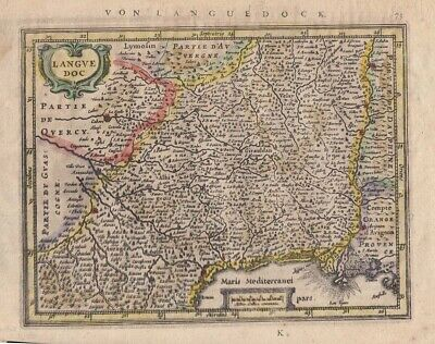 1628 Fine Mercator Map of Languedoc, France