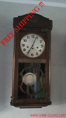 0160 - Antique German Junghans  Westminster chime wall clock