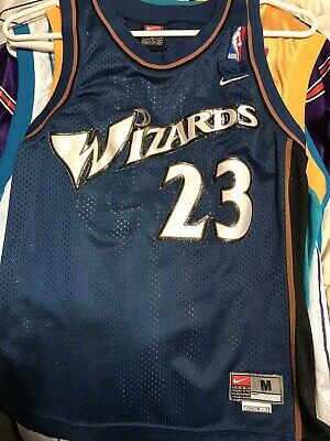 super cute 1fe13 72850 NIKE MICHAEL JORDAN Washington Wizards Jersey Youth Medium M #23 Kids Boys