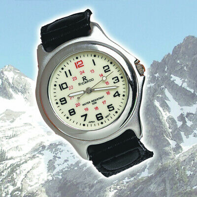 New Alpine Army Watch Night Vision Dial Luminous Hands Water Proof 30m Leather