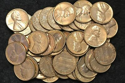 1961 D BU Red 50 ct Roll of Memorial Pennies