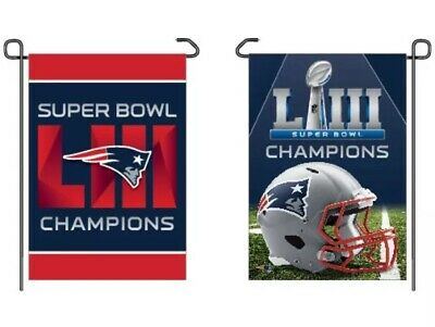 "New England Patriots Super Bowl 53 Champion Double Sided Garden Flag 12""X18"""