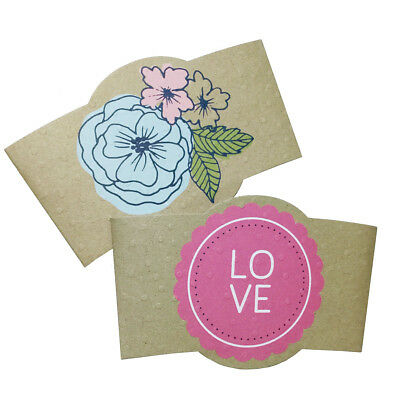 Coffee Hot Cup Sleeves Set 6 Fashion Paper Holders Gift Idea