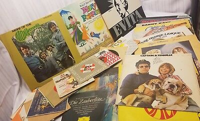 Lot Of Random Vintage Vinyl Records and 45's ! Collection Liquidation