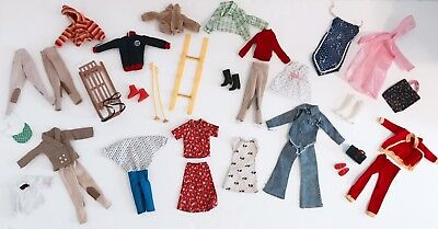 Sindy Lot clothes for dolls + shoes + accessories vintage 70s 80s Pedigree
