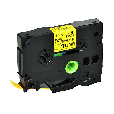 20 PK HSe631 Black on Yellow Heat Shrink Tube Tape for Brother P750WVP E300 H300