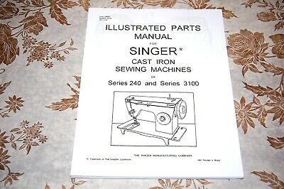 Singer Sewing Machines 3101 3102 3103 3105 2404 Illustrated Parts Manual, on CD.