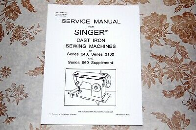 Singer Sewing Machines 3101 3102 3103 3105 2404 2405 Service Manual on CD in PDF