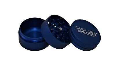 "Medium 2.2"" Matte Blue 3 Piece Santa Cruz Shredder Grinder Matte Finish"