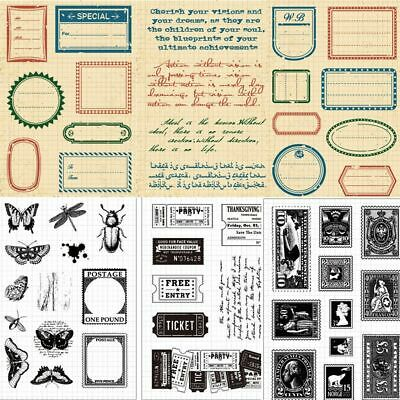 DIY Crafts Clear Silicone Rubber Retro Style Transparent Stamp Scrapbooking