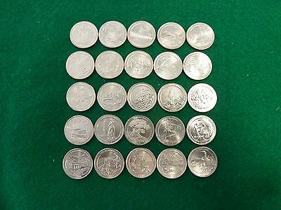 2010-2014 AMERICA THE BEAUTIFUL UNCIRC SET 'P' MINT  25 coins FREE SHIPPING