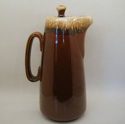 Hull Pottery Brown Drip Glaze Coffee pot Carafe Oven Proof USA