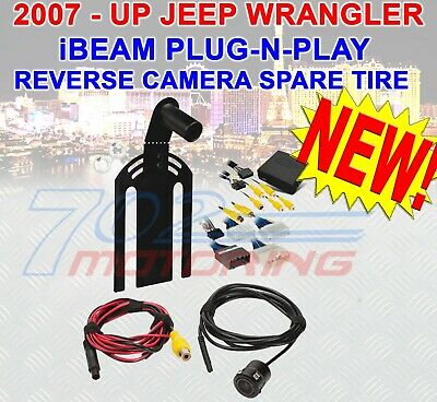 Back Up Mount & Camera Jeep Wrangler Jk 2007 - 2018 Backup Rear View Spare Tire