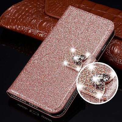 Bling Glitter Flip Leather Wallet Phone Case Cover For Samsung Galaxy S10 S9 S8