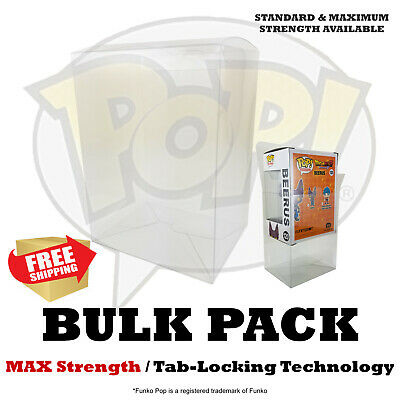"20 50 100 MAX Strength Funko Pop 4"" Inch Protectors Box Case .35mm Clear"
