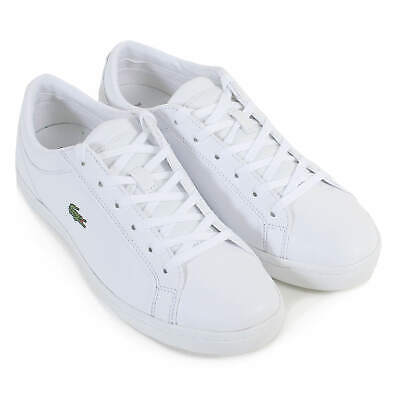644c6c49ea3f5 LACOSTE WOMEN S STRAIGHTSET BL 1 Leather Lace Up Trainer White - EUR ...